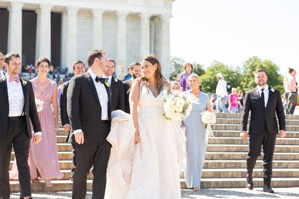 Lincoln memorial bridal party