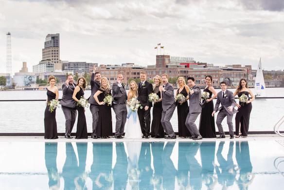 Baltimore bridal party portrait