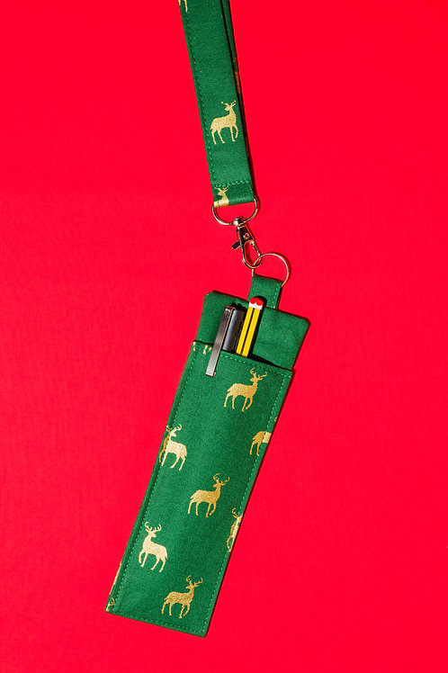 Christmas Lanyard with Pen Holder
