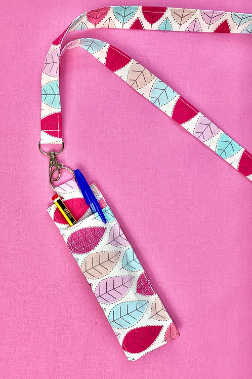 Fabric Lanyard with Pen Holder