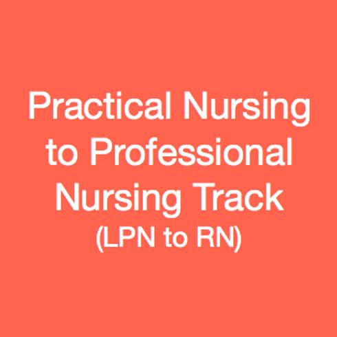 Practical Nursing to Professional Nursing Track (LPN to RN)