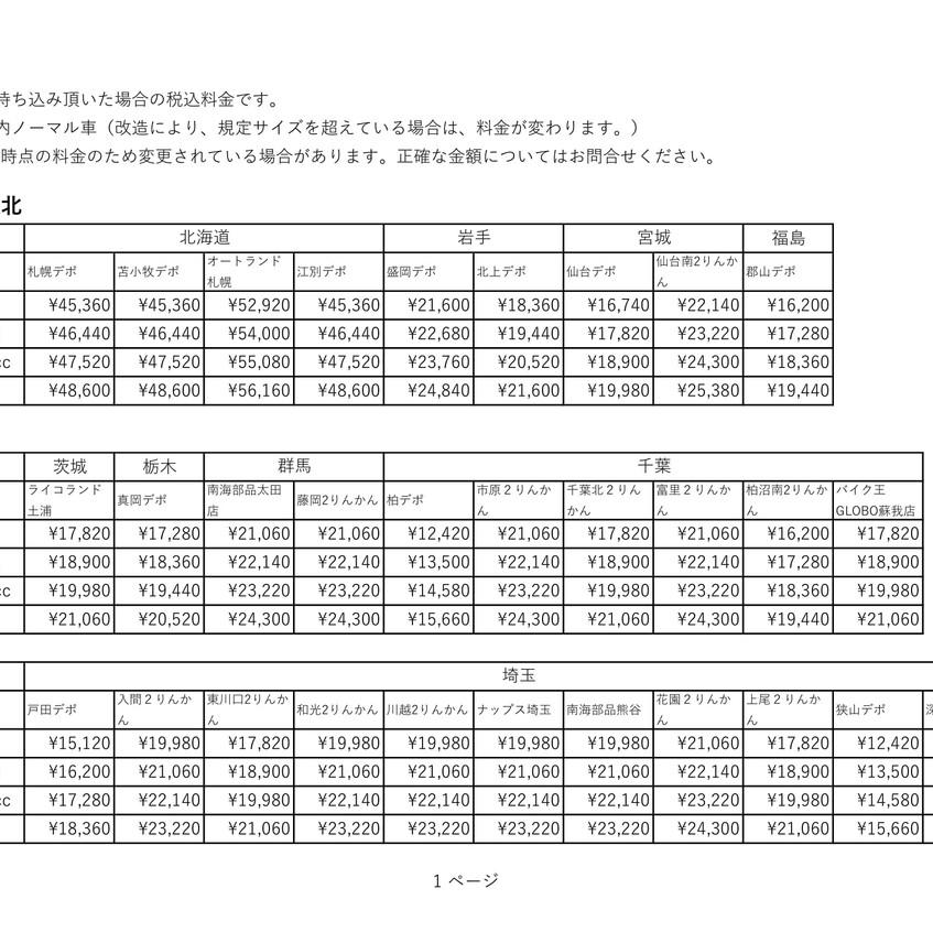 デポ持ち込み輸送料(→小牧)-1