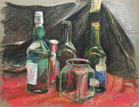 Still Life with Black Canvas