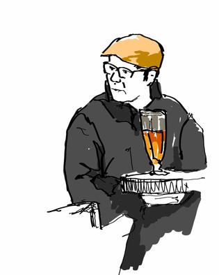 Having Beer