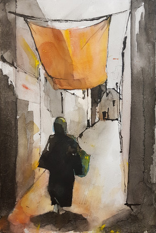 An alley in Rabat