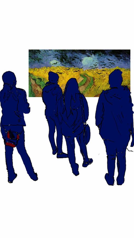 At van Gogh museum