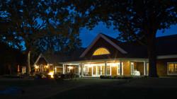Rock Ridge Clubhouse at night
