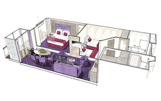 msc Grand Suite mit zwei Schlafzimmern
