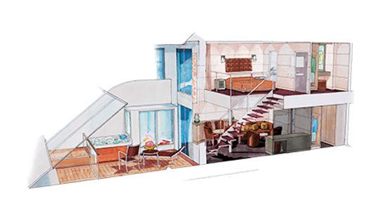 msc Yacht Club Maisonette Suite-YCD