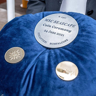 MSC Seascape Coin Ceremony