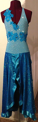 BLUE SMOOTH BALLROOM DRESS