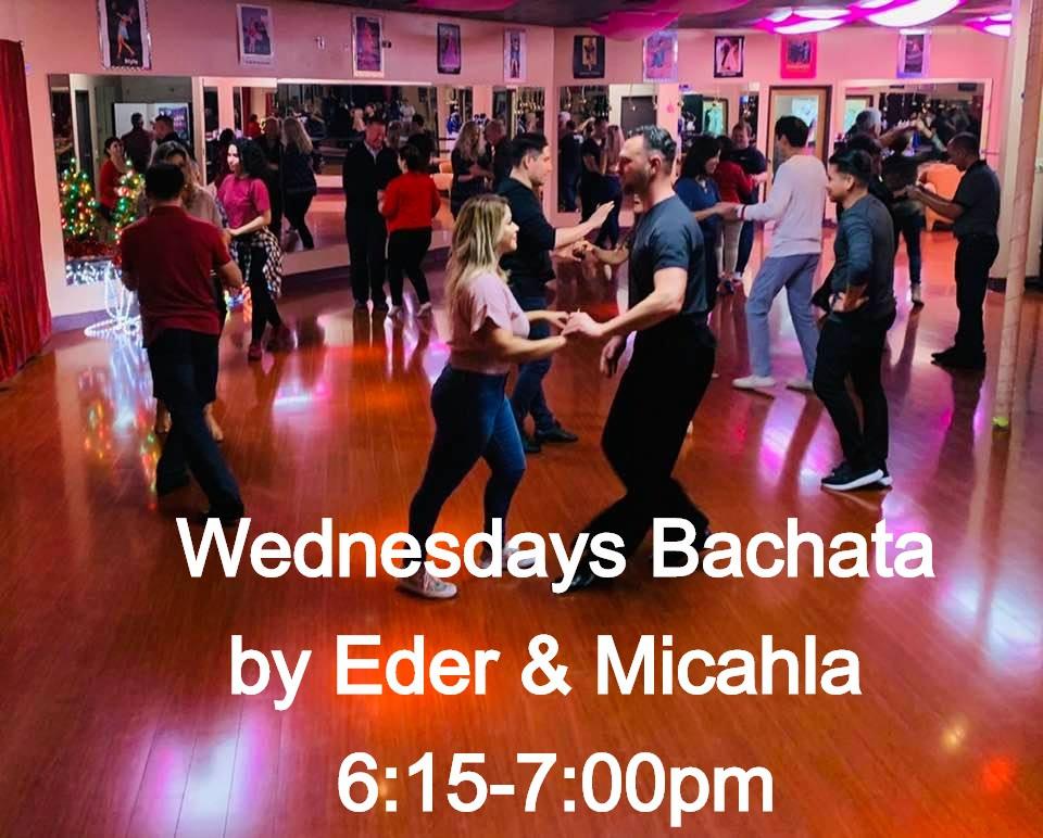 Wednesdays Bachata 6:15-7:00pm