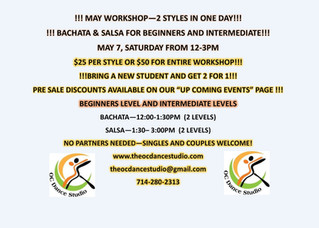 Dance Studios in Orange County for Salsa and Bachata Dance Classes