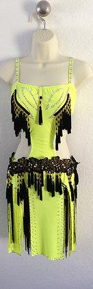 Latin/Salsa Yellow Dress