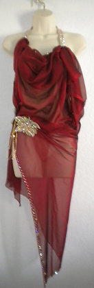 Red Ballroom Latin Dress