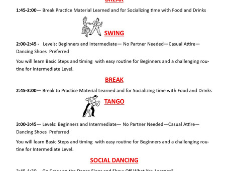Mega Salsa, Swing and Tango classes at our February workshop in Orange County!