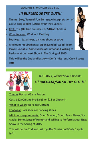 Burlesque and Salsa Classes Orange County Irvine Newport Beach Costa Mesa Tustin