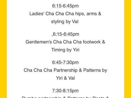 SALSA, CHA CHA, RUMBA, SOCIAL DANCING...in Orange County this Saturday!