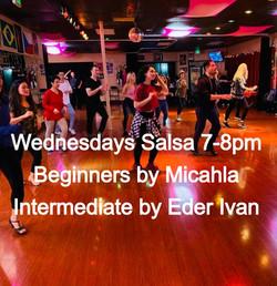 SALSA CLASS - WEDNESDAYS 7-8PM