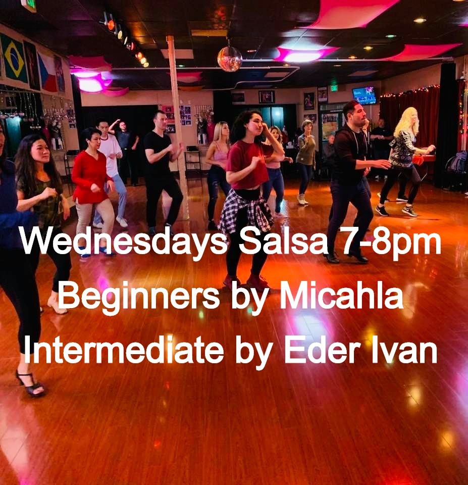 Salsa Classes on Wednesdays 7-8pm