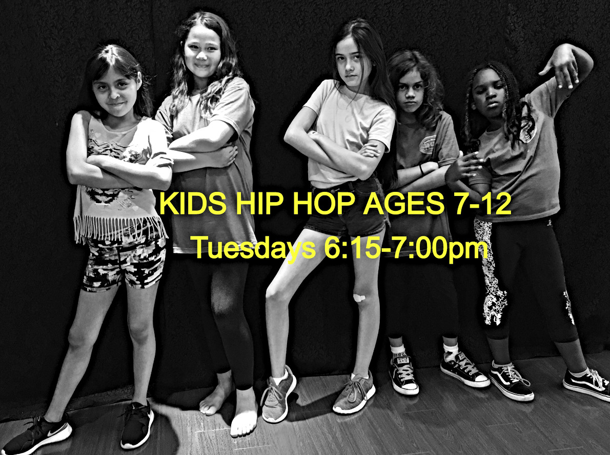Kids Hip Hop Ages 7-12 on Tuesdays
