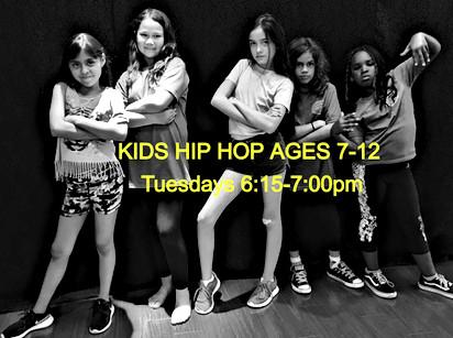 Kids Hip Hop Ages 7-12 on Tuesdays
