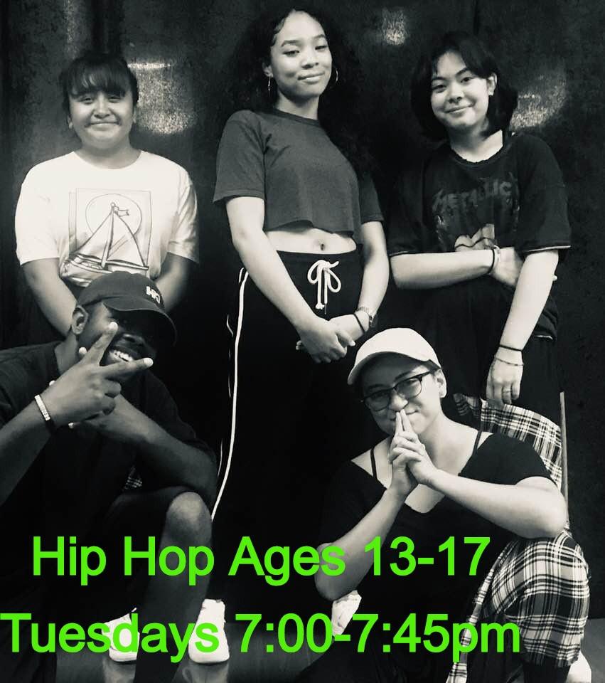 Hip Hop Ages 13-17 - Tuesdays 7:00-7:45