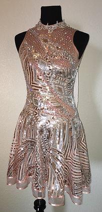 Latin Light Golden Dress