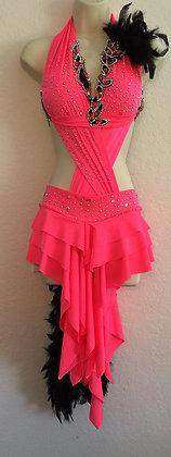 Coral Latin Dress