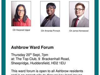 Ashbrow Ward Forum. Want to express your views about something in the area?