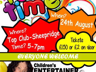 CHILDREN'S PARTY!! EVERYONE WELCOME! SUMMER HOLIDAY FUN :-)