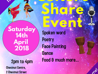 UNIFIED CULTURE SHARE EVENT - FREE- EVERYONE WELCOME - CHESTNUT CENTRE
