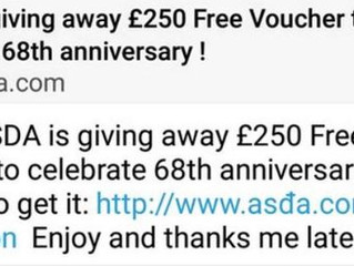 £250 ASDA VOUCHER ON WHATSAPP IS A SCAM - STAY CLEAR