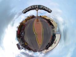 North Park, San Diego - Tiny Planet (360 video)