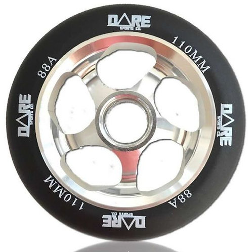 DARE MOTION BLACK SILVER 110MM SCOOTER WHEEL