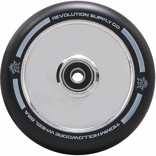 REVOLUTION SUPPLY HOLLOWCORE 110MM SCOOTER WHEEL - CHROME SILVER