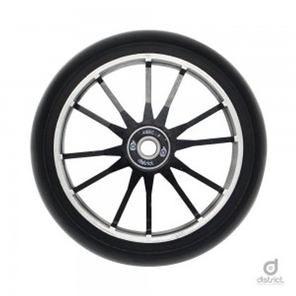 district 110x30 wide wheel twin core black/black