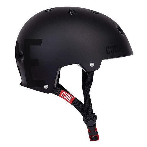 CORE PROTECTION STREET SKATE/BMX HELMET - STEALTH BLACKL/XL 56-60CM