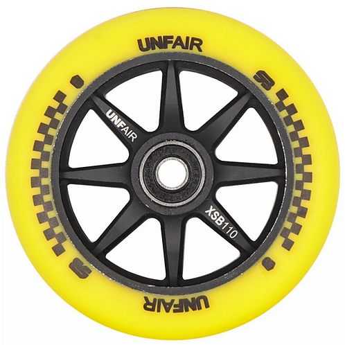 UNFAIR COMPASS SCOOTER BRAD 110MM SIGNATURE WHEEL - YELLOW / BLACK ( TWIN PACK)