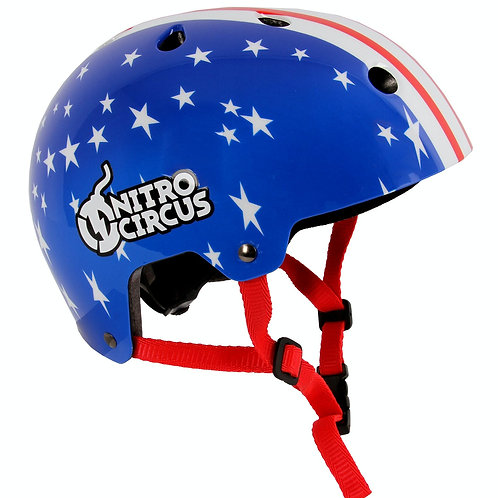 NITRUS CIRCLE STARS / STRIPES HELMET   SMALL - 48-54CM