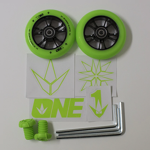 BLUNT ONE COLOR PACK ( 2 x 100mm wheels, bar ends, stickers & base pack