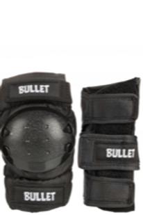 Bullet Combo Standard Pad Set Junior - Black -  only elbow & wrist