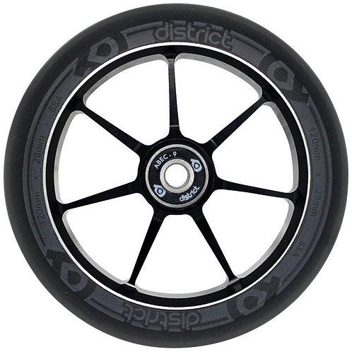 District 28mm Dual Width Core 120mm Scooter Wheel - Black/Grey