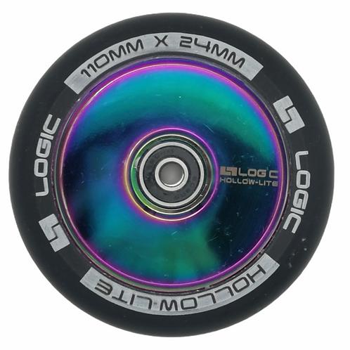 Logic 110mm Hollow Lite wheel Black/Neo