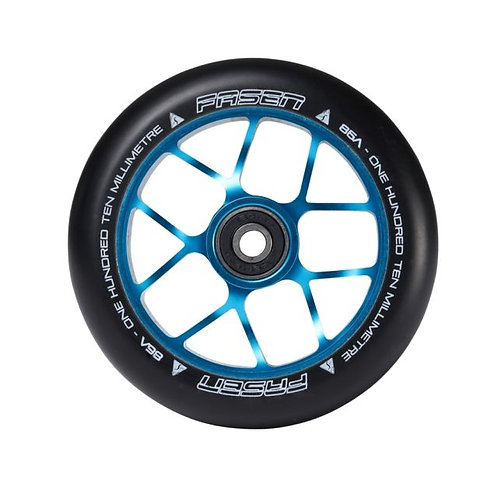 Fasen Jet Alloy Core Scooter Wheel 110mm - Black / Teal