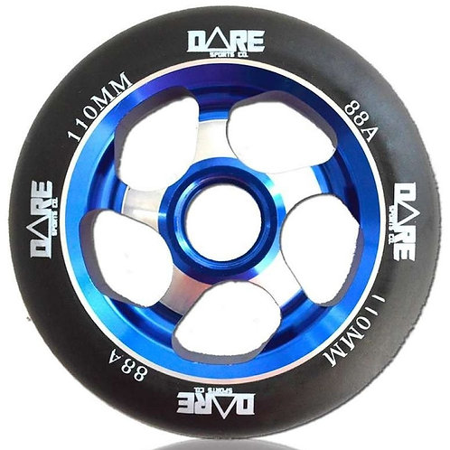 DARE MOTION BLACK BLUE 110MM SCOOTER WHEEL