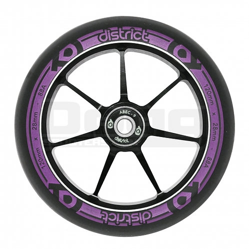 district 120x28mm dual with core black/magenta