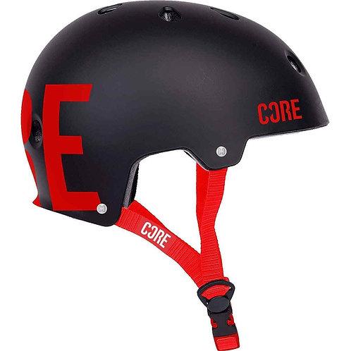 CORE Street Helmet RED / BLACK S/M