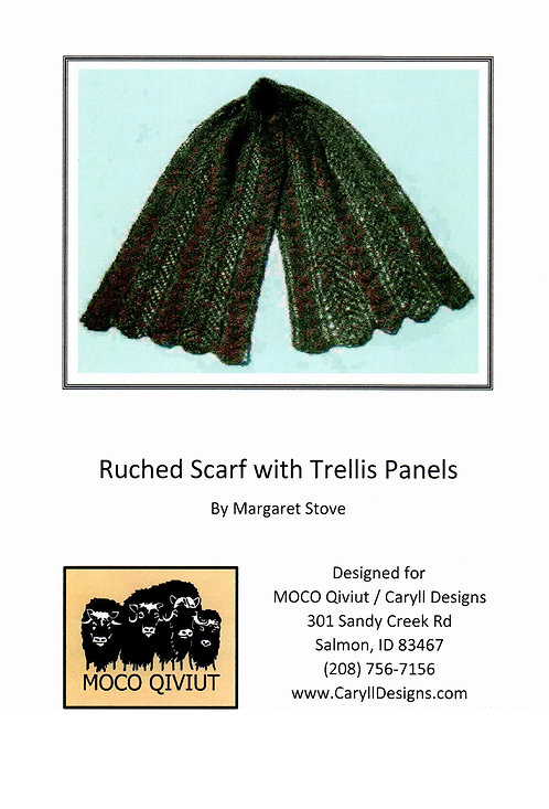 Ruched Scarf with Trellis Panels by Margaret Stove