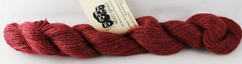 70/20/10 Qiviut/Merino/Silk, 2/18 Lace, 300yds, 1oz skein, Cranberry
